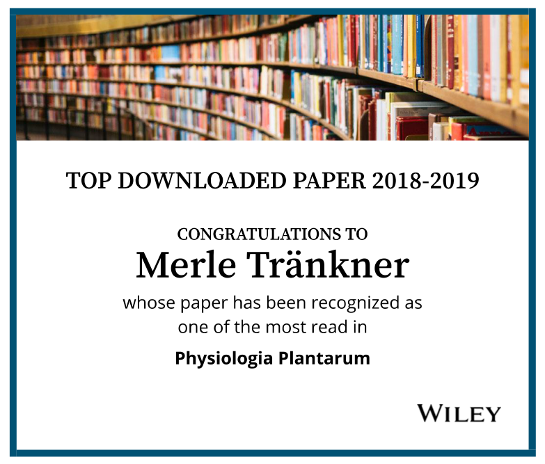 "Recognized as a ""Top Downloaded Paper 2018-2019"": the review article by Junior Professor Dr. Merle Tränkner, Dr. Ershad Tavakol and Dr. Bálint Jákli"