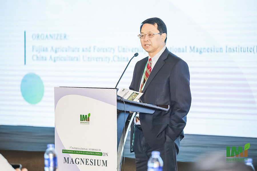 Professor Fusuo Zhang, Chair of the International Scientific Committee of the 3rd International Symposium on Magnesium. Professor Zhang is Academician of the Chinese Academy of Engineering, the Director of the IMI and the Director of the Centre for Resources Environmental and Food Security, China Agricultural University, Beijing, China. (Photo: IMI)