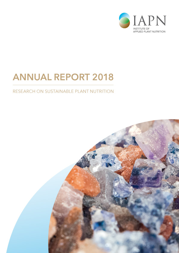 Titelblatt: Research on sustainable plant nutrition - Annual Report 2018
