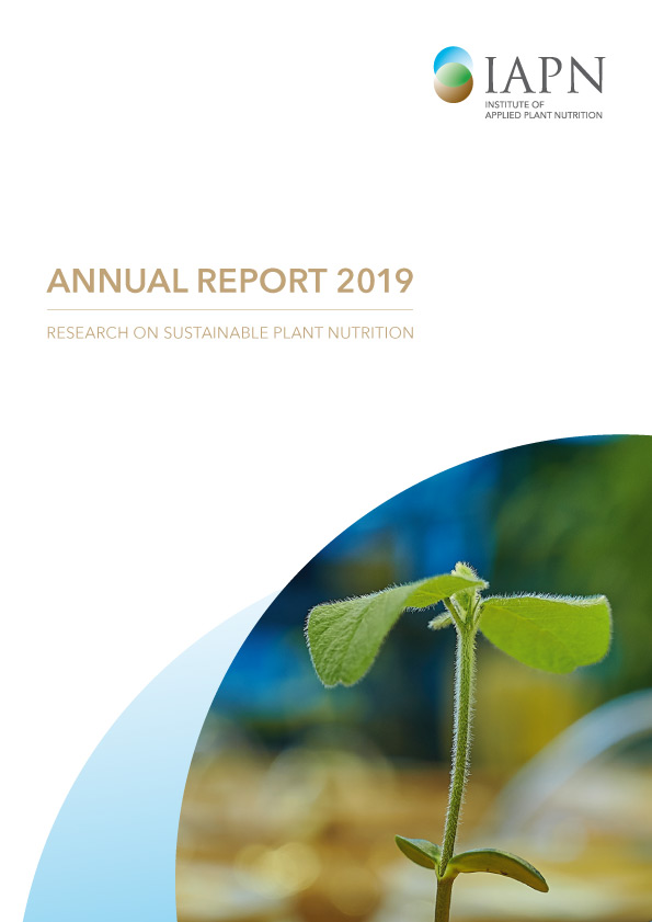 Titelblatt: Research on sustainable plant nutrition - Annual Report 2019
