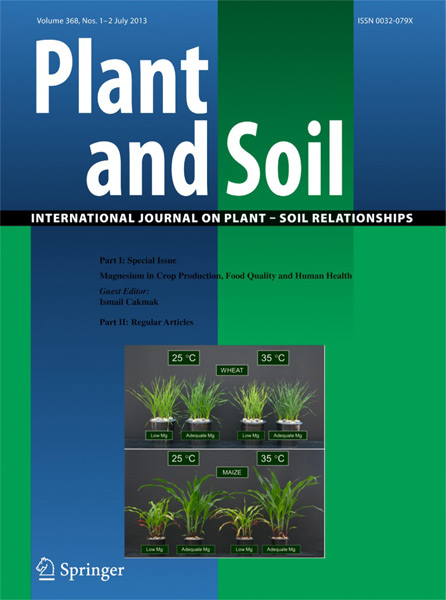 Plant and Soil - Special Issue: Magnesium in Crop Production, Food Quality and Human Health